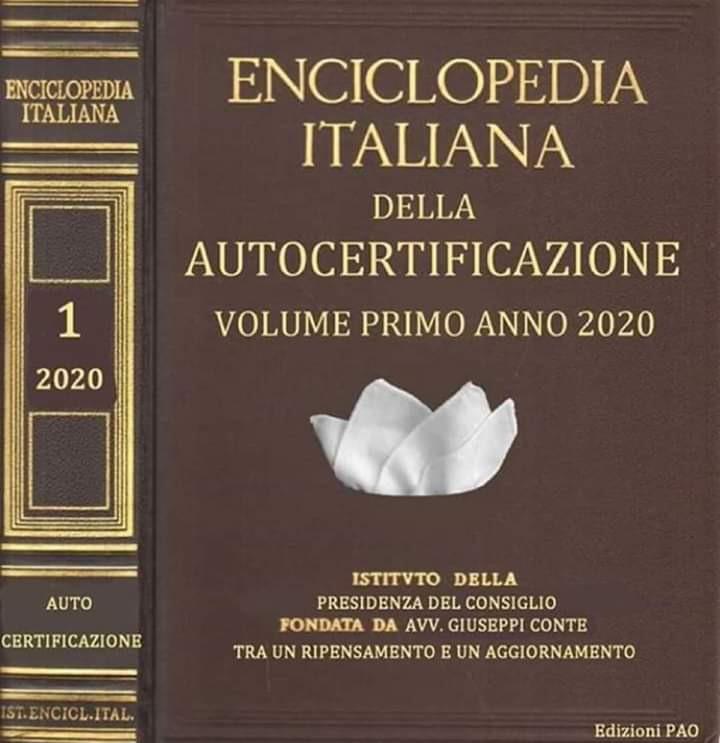 Risultato immagini per enciclopedia italiana delle autocertificazioni